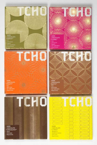TCHO luxury chocolate packaging