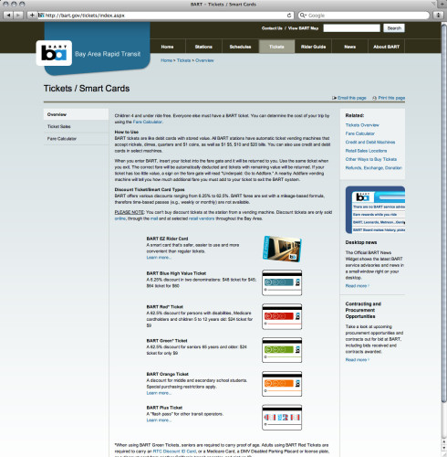 BART website