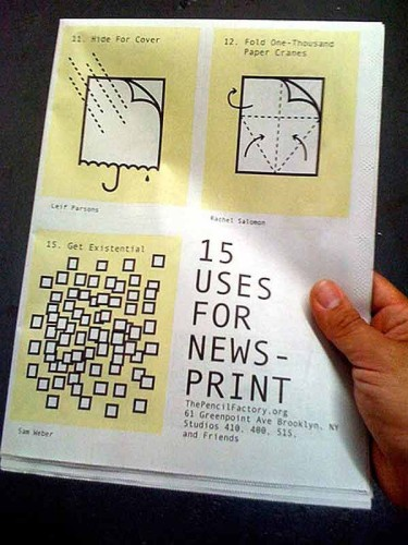 15 uses for Newsprint