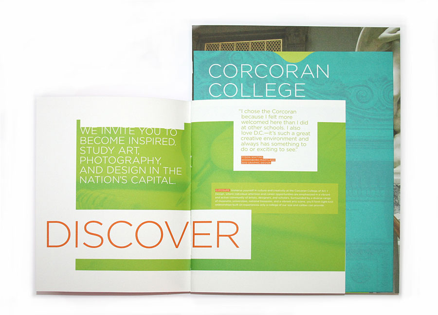 Corcoran College Brochure Colorful Color Blocks  Design Page