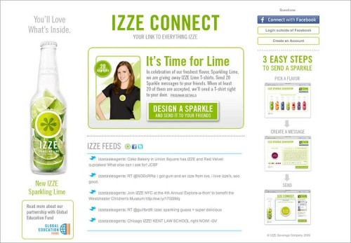 IZZE You'll Love What's Inside Campaign
