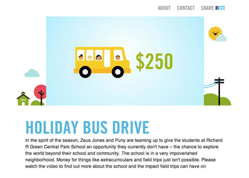 The Holiday Bus Drive