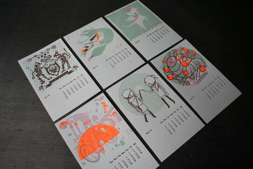 2010 Studio On Fire Letterpress Calendar