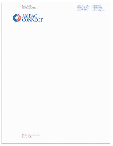 Ambac Connect Identity letterhead system
