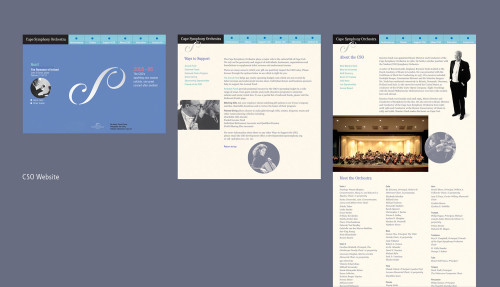 Cape Symphony Orchestra Interactive Web Site