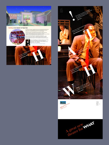 WHAT Theater Capital campaign public brochure