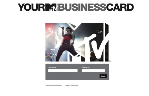 MTV Business Card